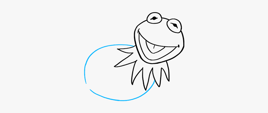Kermit The Frog Draw, Transparent Clipart