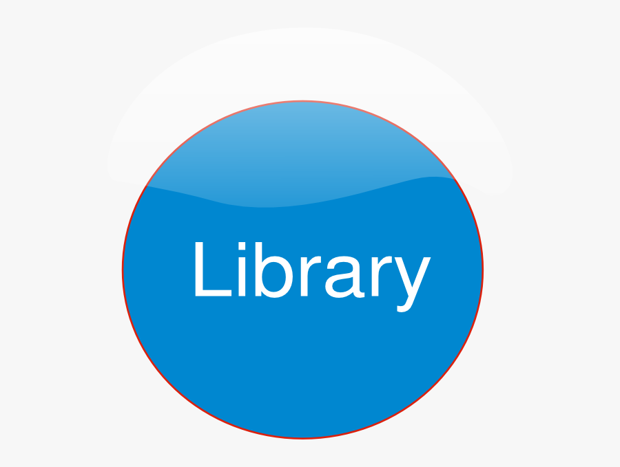 Library Button Svg Downloads - Circle, Transparent Clipart