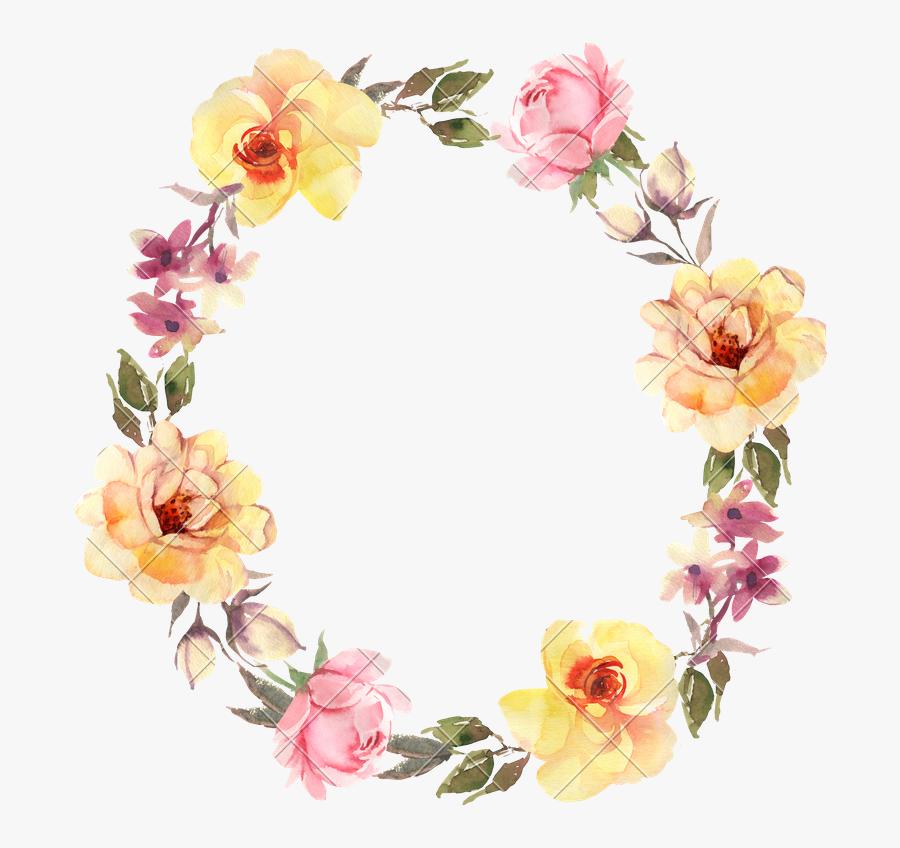 Clip Art Bohemian Flowers - Poppy Flower Wreath Transparent, Transparent Clipart