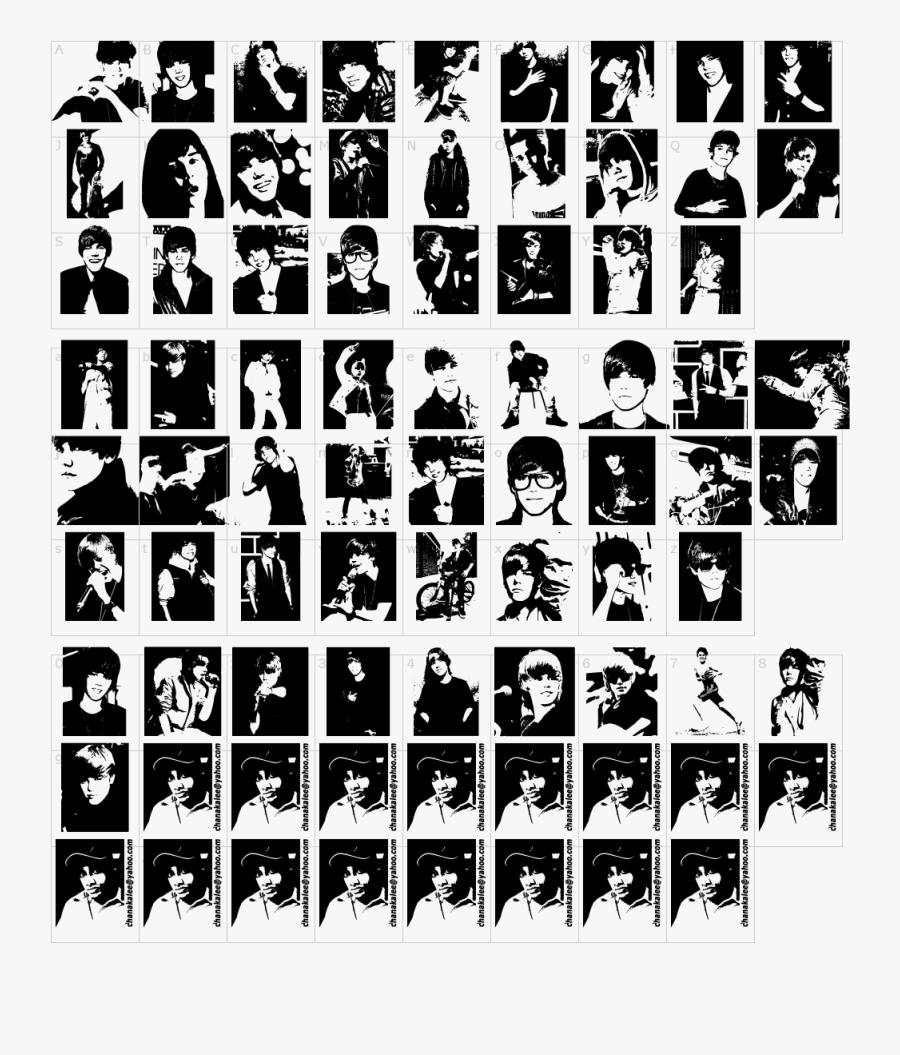 Clip Art Meme Typeface - Justin Bieber Font Style, Transparent Clipart