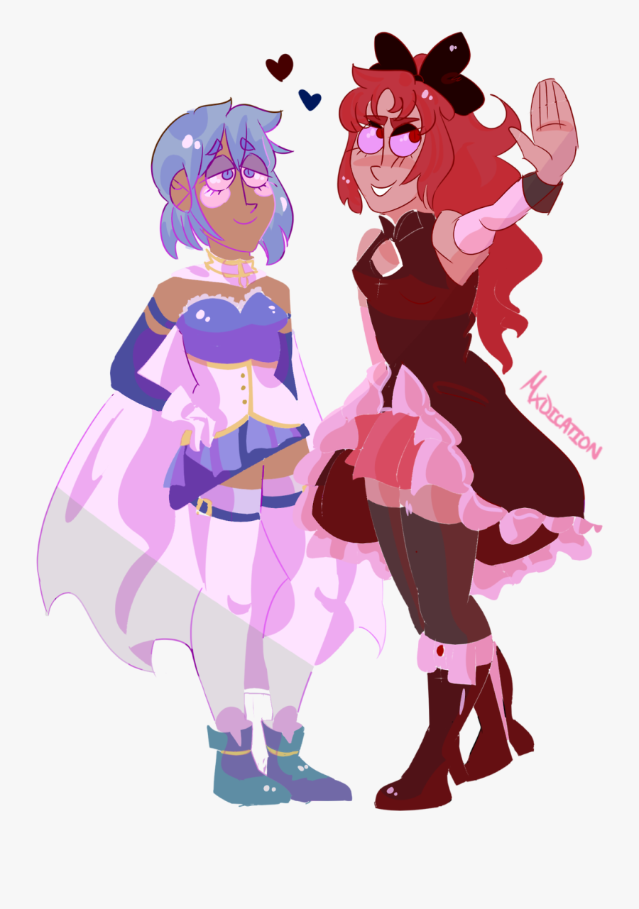 """If It Weren""""t For That Fact That Pmmm Had Very Cookie - Kyoko X Sayaka Fan Art, Transparent Clipart"""
