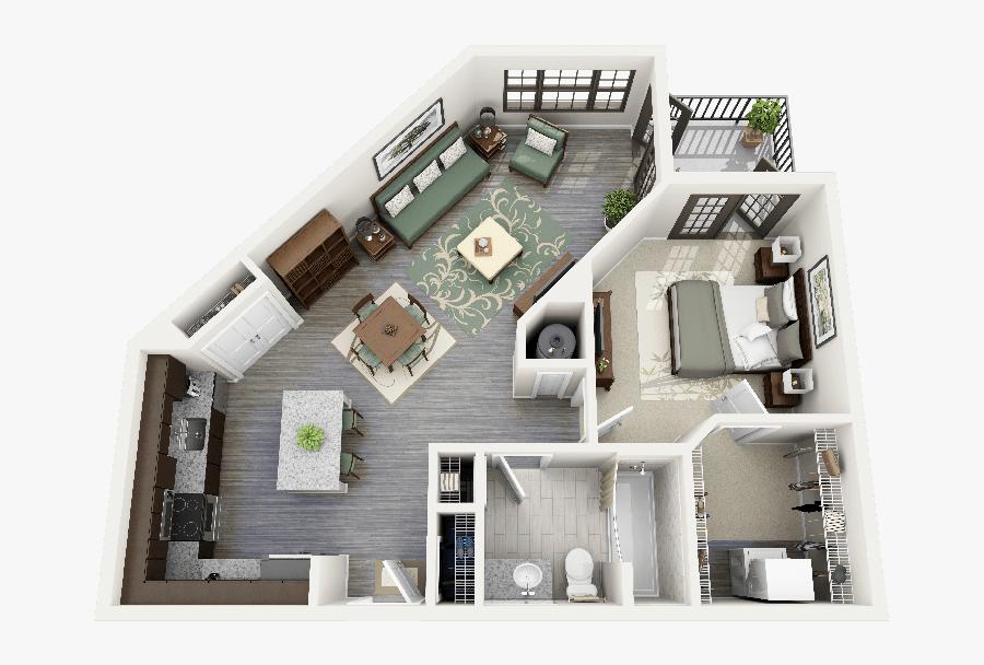 """Elegant 4 Bedroom Apartments Elegant 50 E """"1"""" Bedroom - Sims 4 Apartment Designs, Transparent Clipart"""