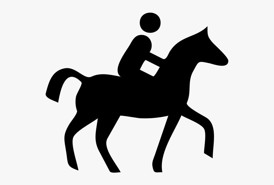 Transparent Reining Horse Clipart - Horse Riding Icon Png, Transparent Clipart
