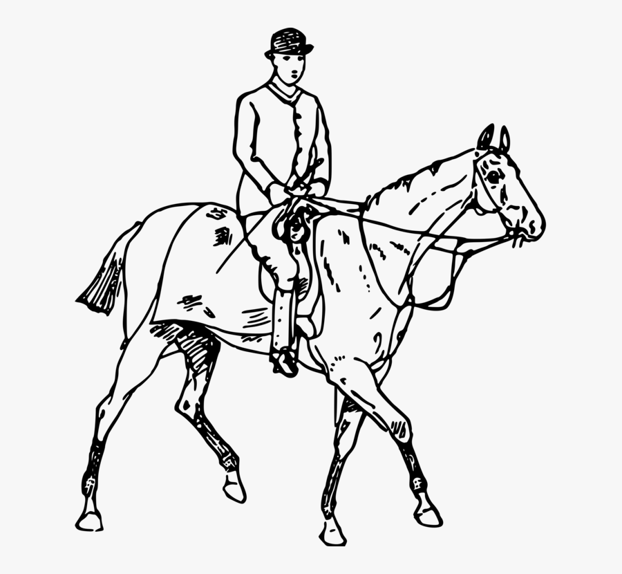 English Riding,art,horse Tack - Drawing Knight Riding Horse, Transparent Clipart
