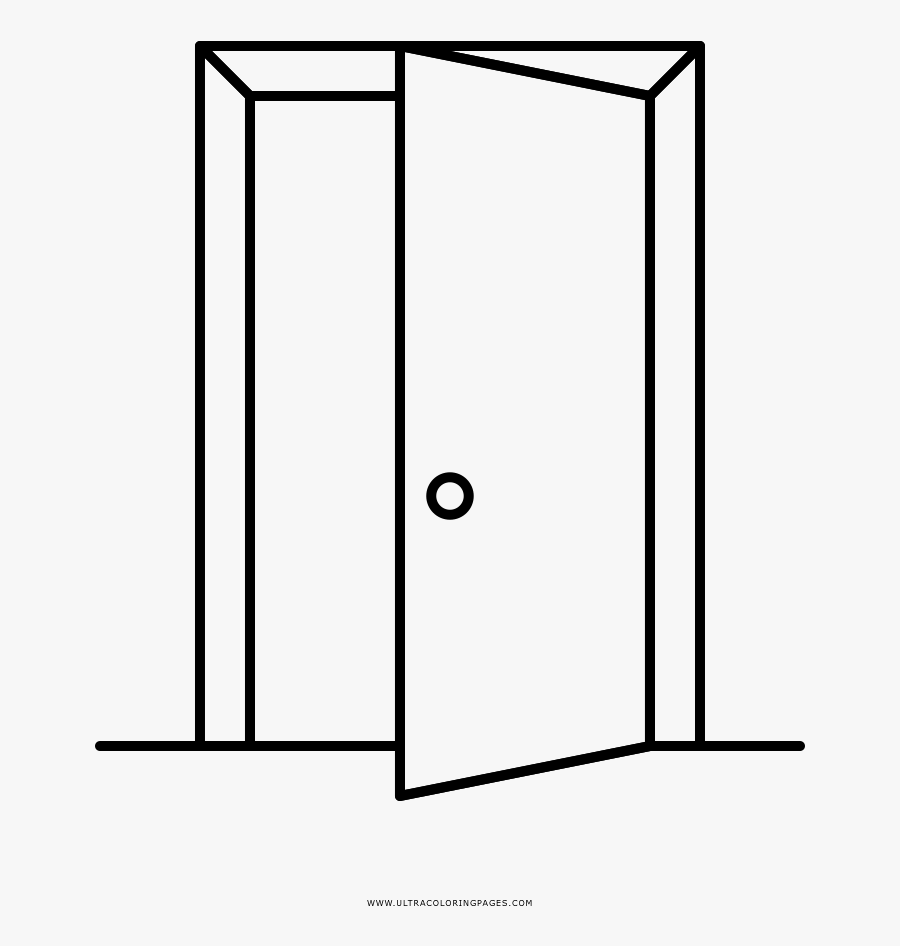 Colouring Pages Of Door, Transparent Clipart