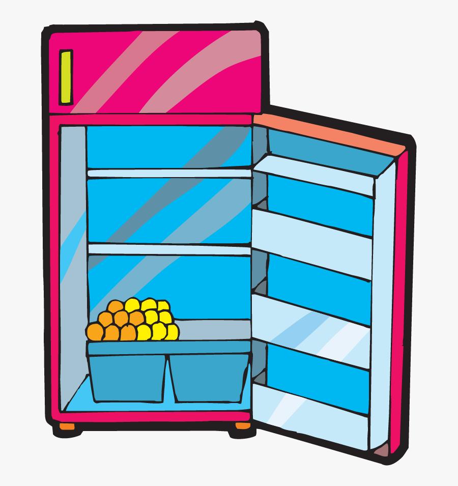 Fridge Vector Open - Fridge Door Open Cartoon, Transparent Clipart