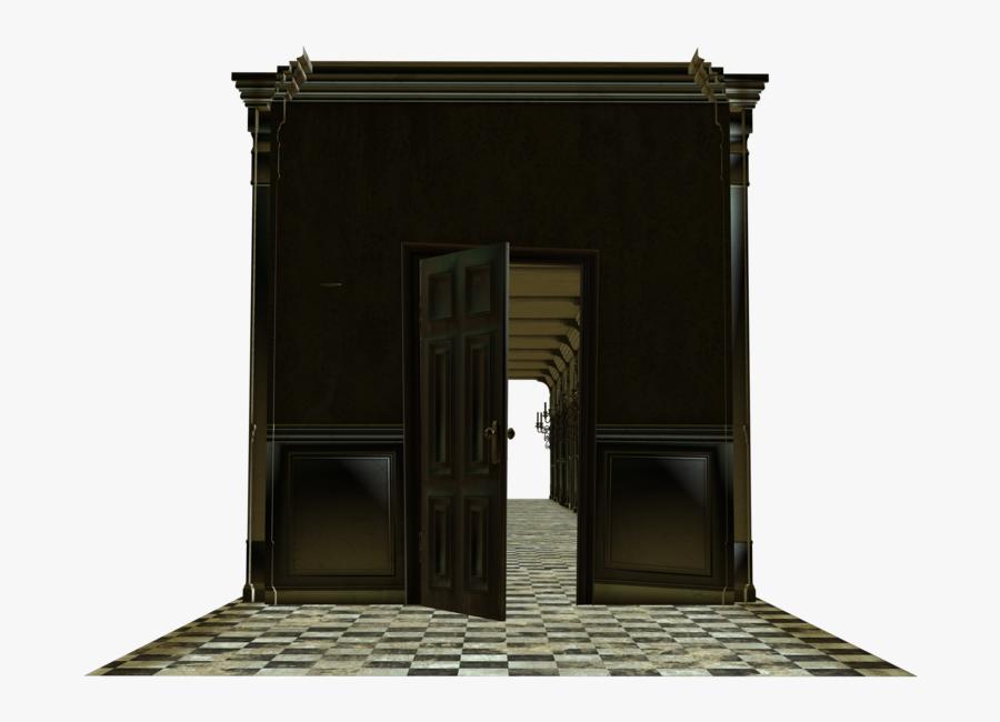 Room House Door Open Cut - House With Open Door Png, Transparent Clipart