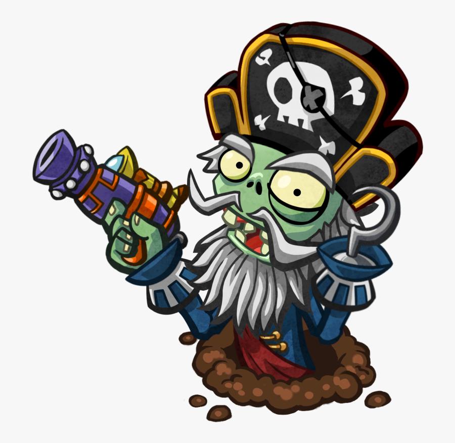 Captain Deadbeard - Plants Vs - Zombies - Garden Warfare - Plants Vs Zombies Capitan, Transparent Clipart