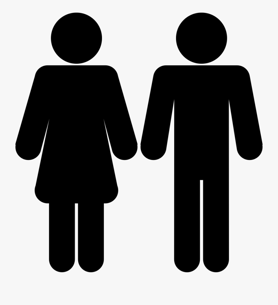 Square Clipart Shape Man - Male Female Icon Png, Transparent Clipart