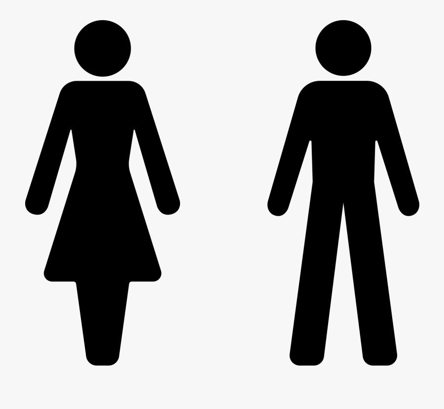 Male Female Toilet Symbol, Transparent Clipart