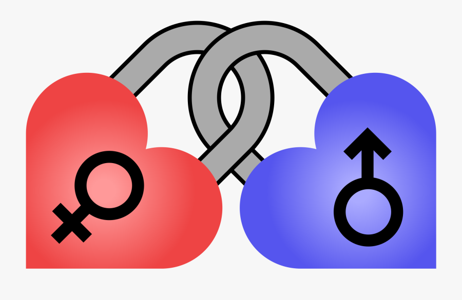 Male And Female Symbols - Transparent Heart Male Female, Transparent Clipart
