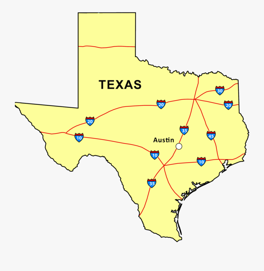 Audiovisual Services Provided To The Austin, Texas - Trinity River On Texas Map, Transparent Clipart