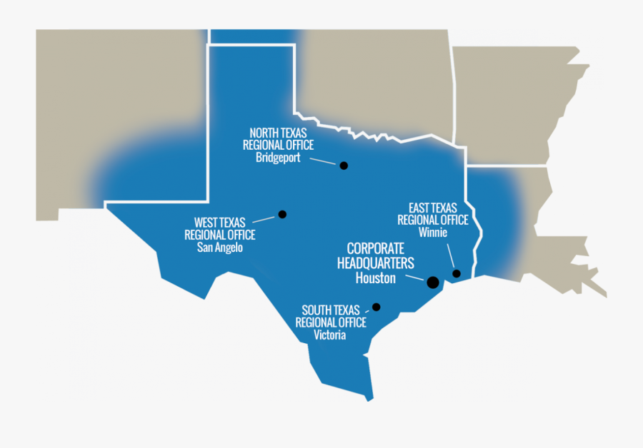 Transparent Texas Map Outline Png - Houston Texas Map State, Transparent Clipart