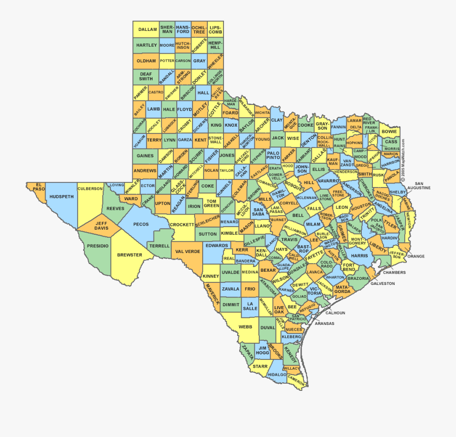 Transparent Texas Png Image - Texas Map Red River, Transparent Clipart