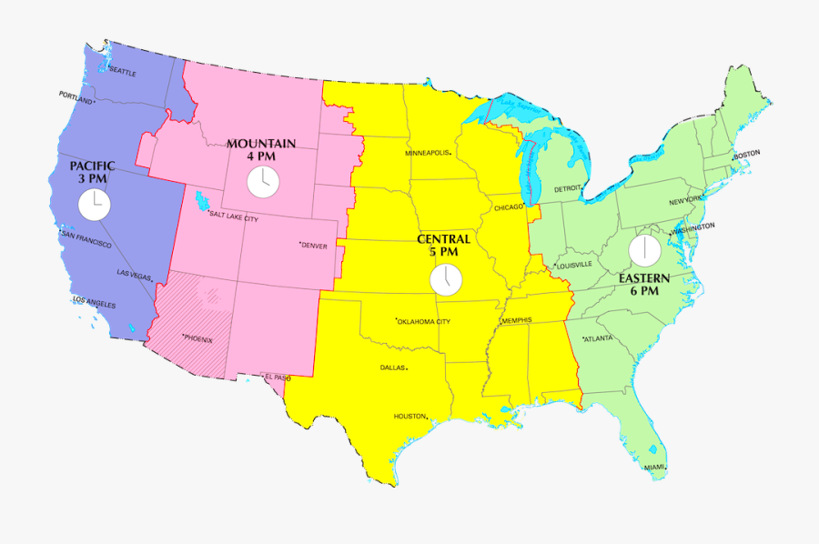 Us Time Zones Current - 6th Circuit Court Of Appeals, Transparent Clipart