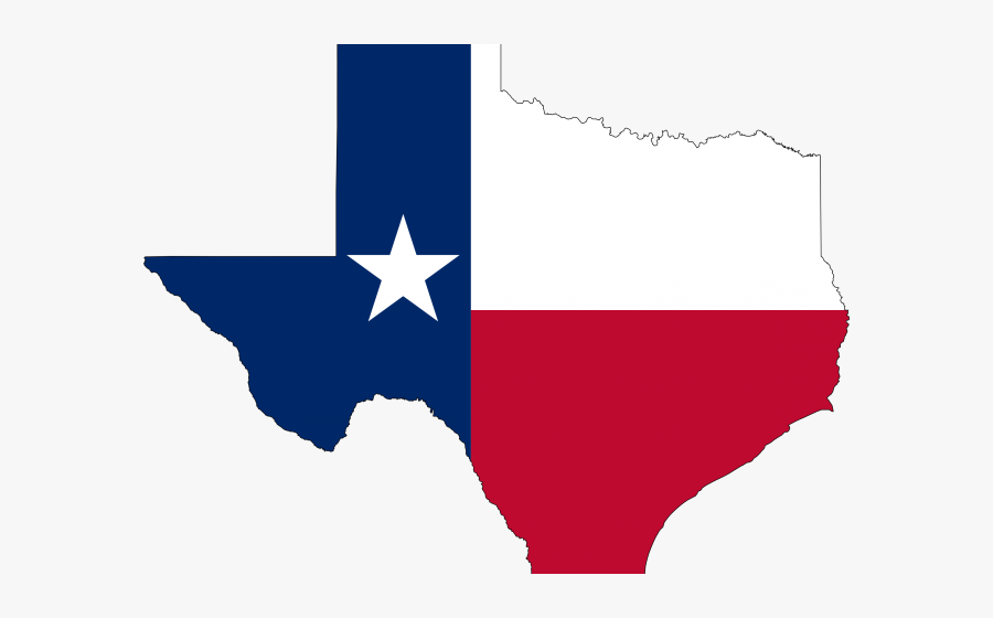 Texas Flag On State, Transparent Clipart