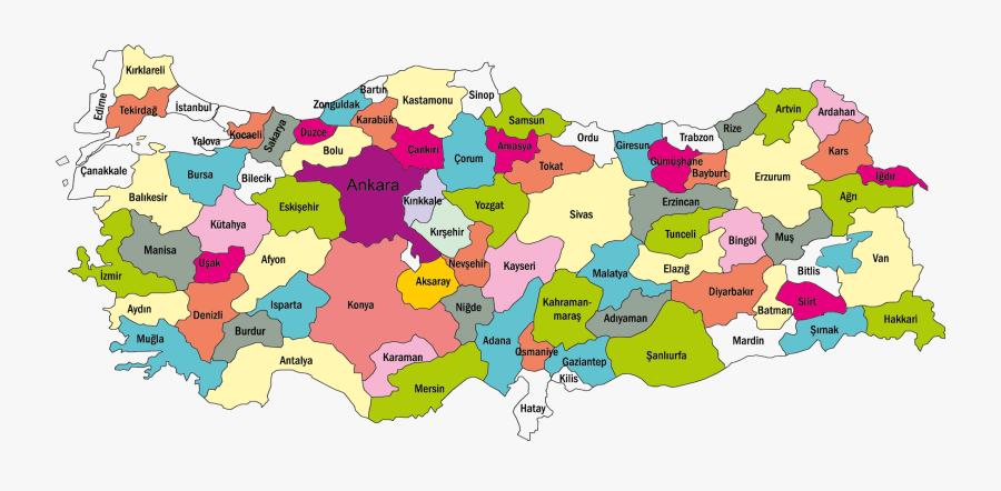 Turkey Map Türkiye Haritası Png - Türkiye Haritası, Transparent Clipart