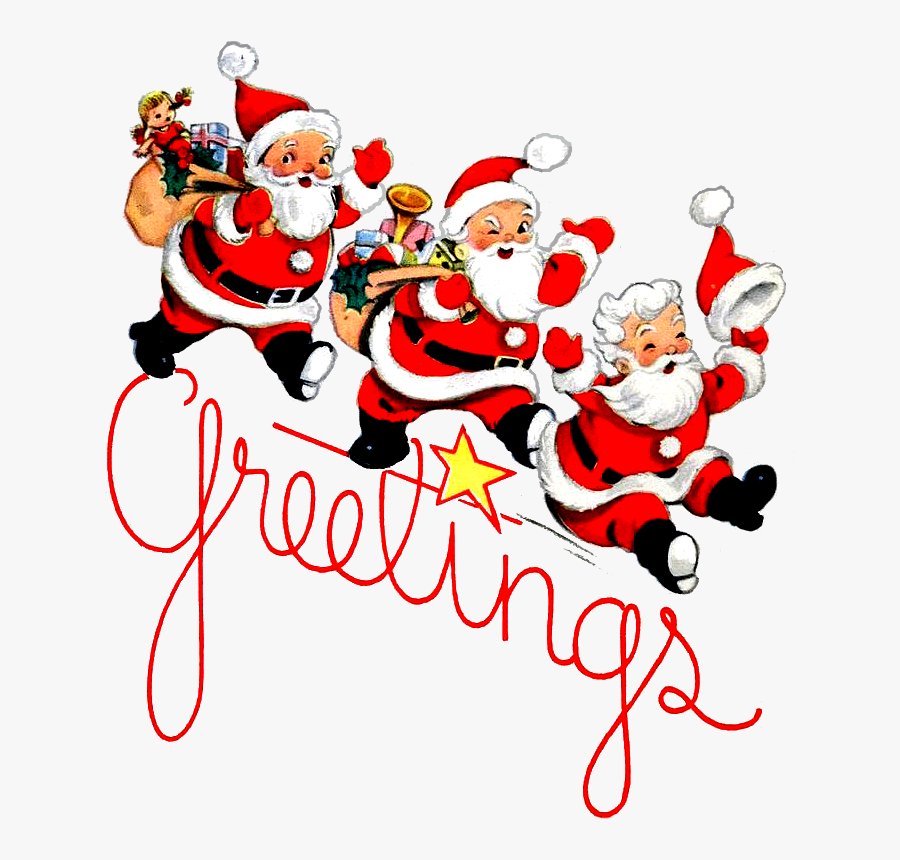Santa Claus Christmas Ornament Vintage Christmas Cards - Christmas Day, Transparent Clipart