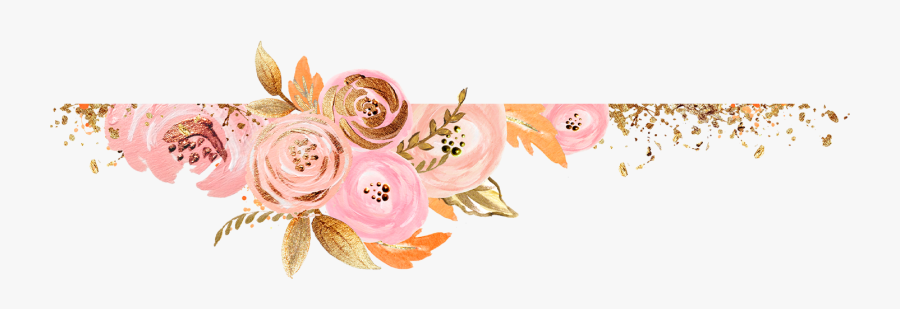 Rose Gold Flowers Clipart