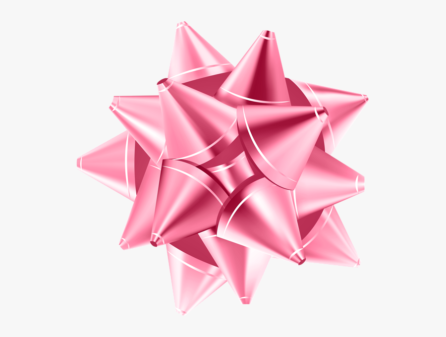 Gift Bow Png - Pink Bow Gift Png, Transparent Clipart