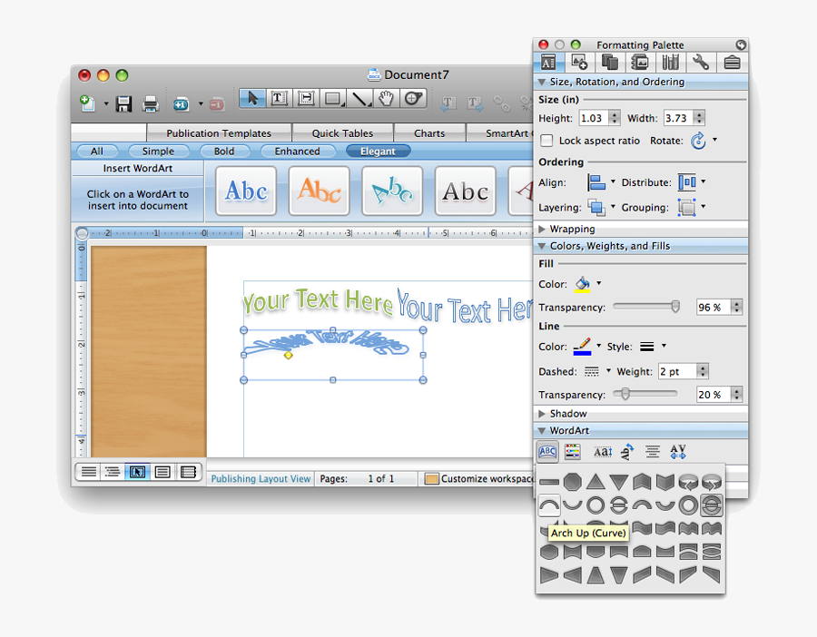 Word - Wordart In Pages, Transparent Clipart