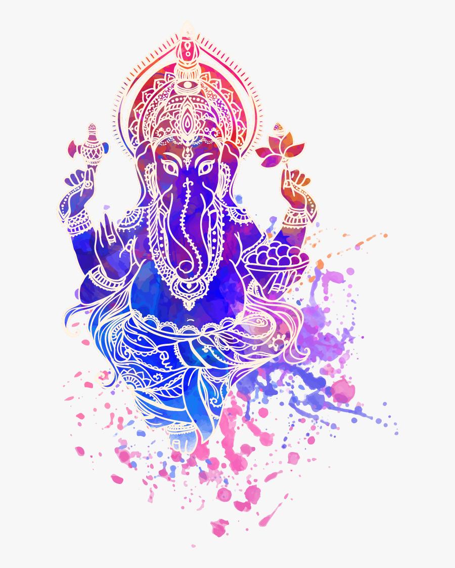 Ganesha Vector Ganesh Visarjan - Creative Ganesh Clipart Png, Transparent Clipart