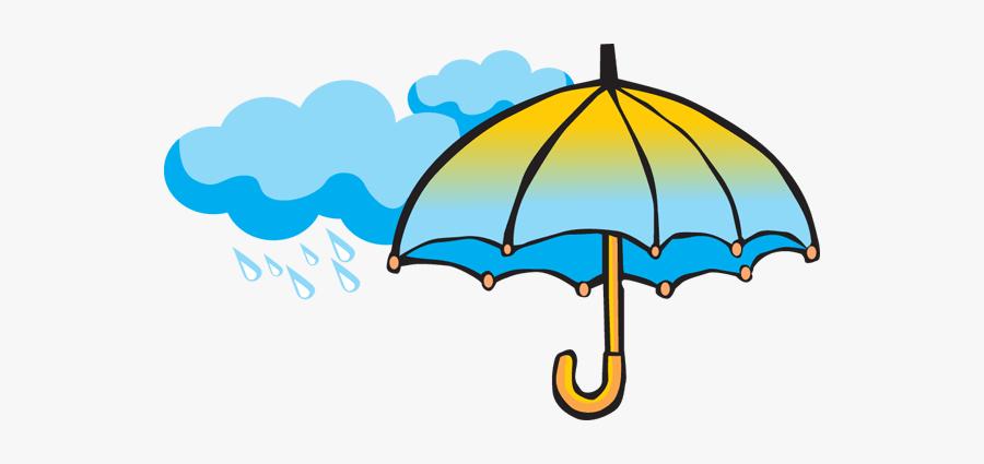 Umbrella With Rain Clipart, Transparent Clipart
