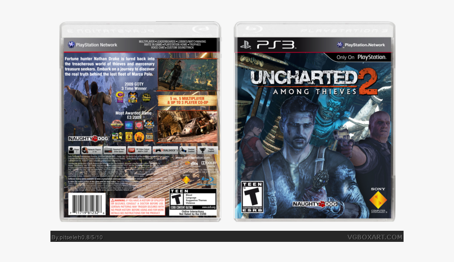 Among Thieves Box Art Cover - Uncharted 2 Ps3 Box, Transparent Clipart