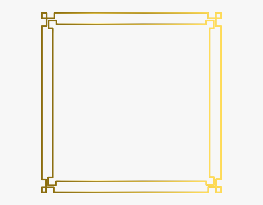 Simple Vector Frames Png - Simple Gold Border Hd, Transparent Clipart
