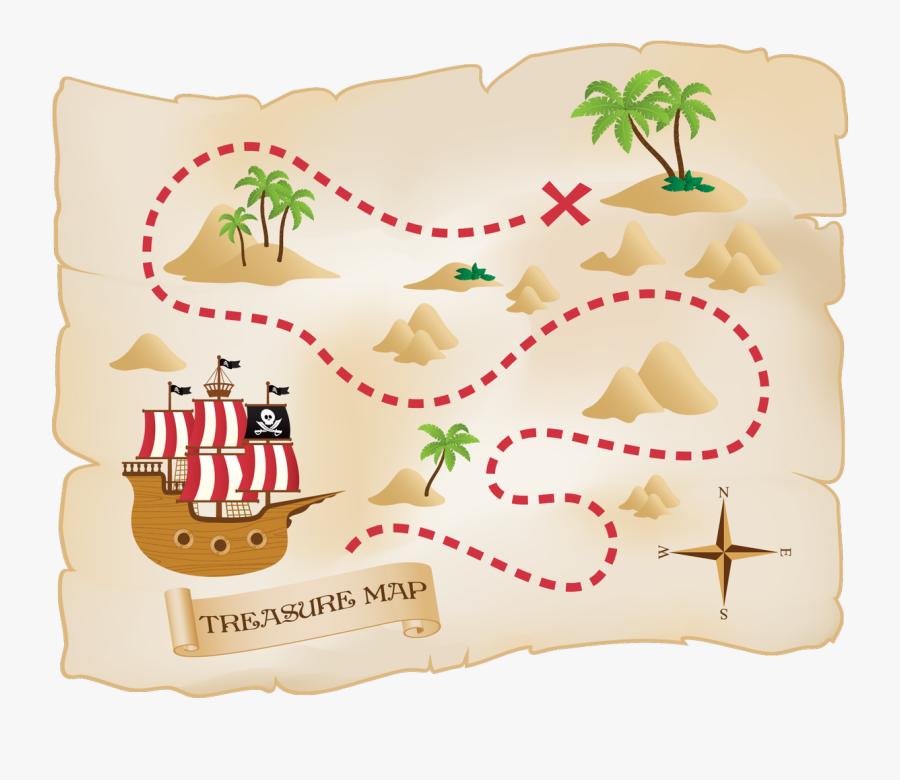 Fun Treasure Map For Kids, Transparent Clipart