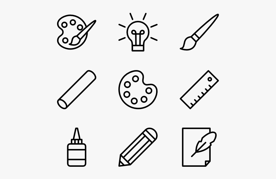 Desing And Paiting Tools Linear - Mobile Png Line Icon, Transparent Clipart