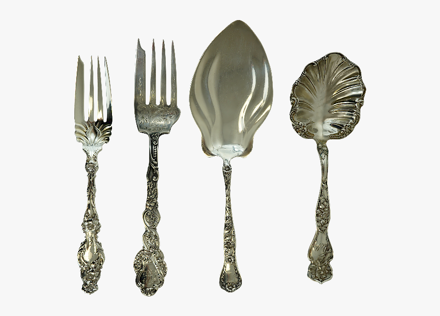 Silver Serving Utensils By Childress Gaffney Auctions - Antique, Transparent Clipart