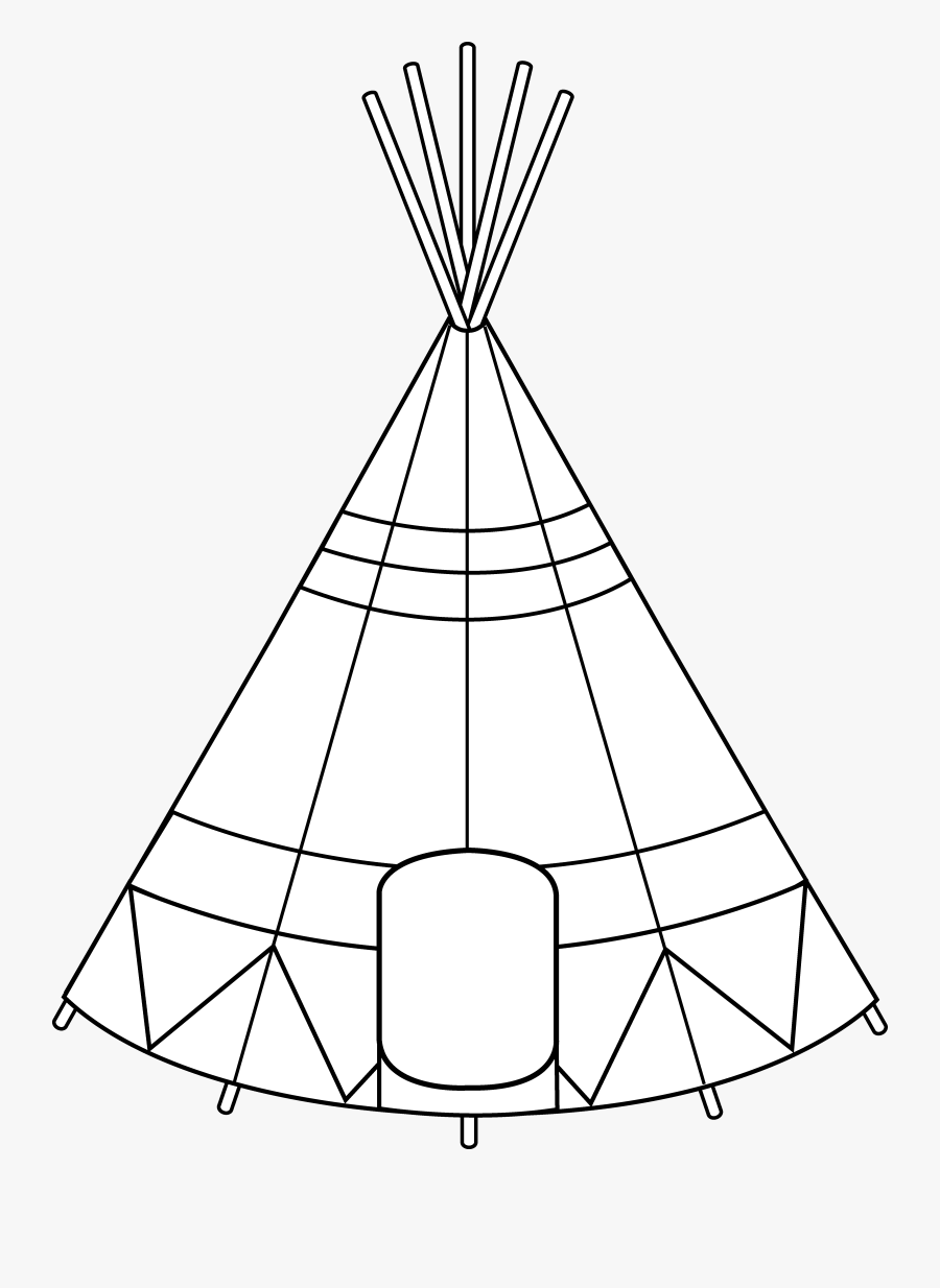 Tent For Living Coloring Page - Free Houses Coloring Pages ... | 1234x900