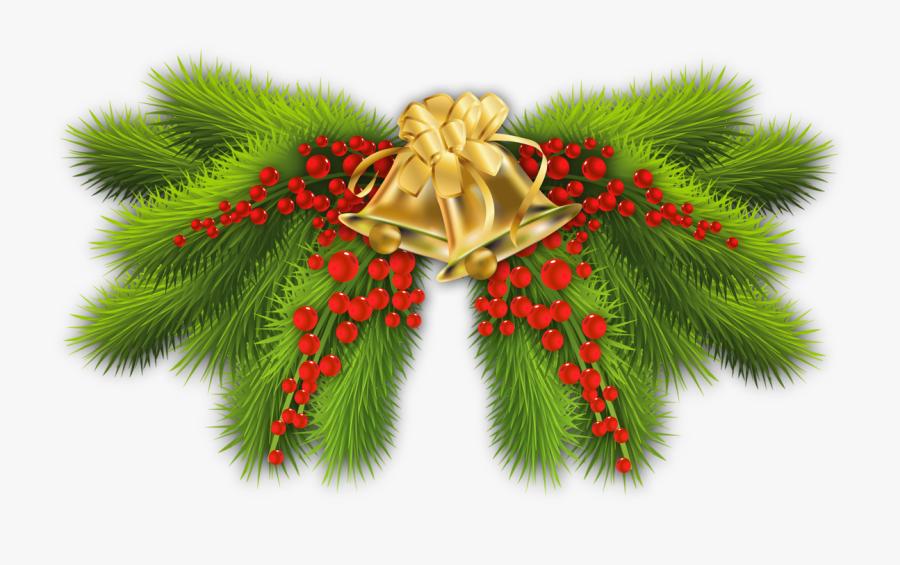 Transparent Pine Boughs Clipart - Christmas Decoration Items Png, Transparent Clipart