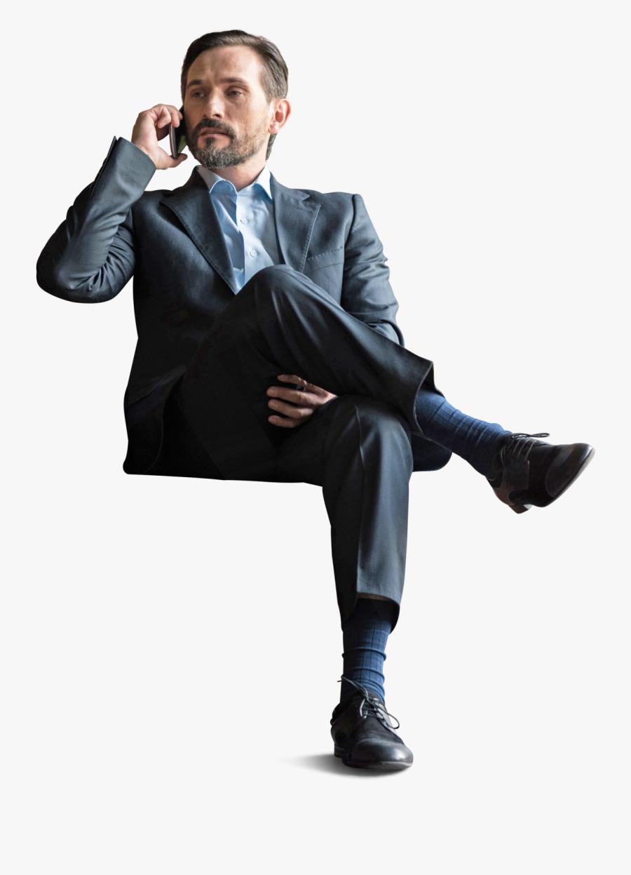 Transparent Man In Suit Clipart - Architecture People Sitting Png, Transparent Clipart