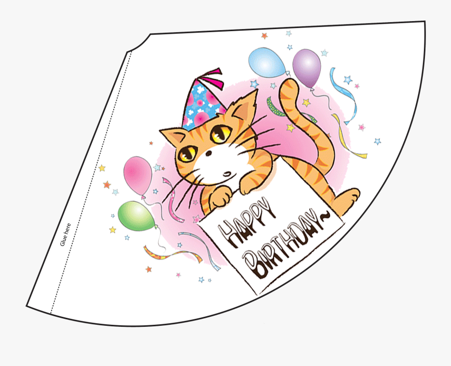 Printable Party Hats For Cats, Transparent Clipart