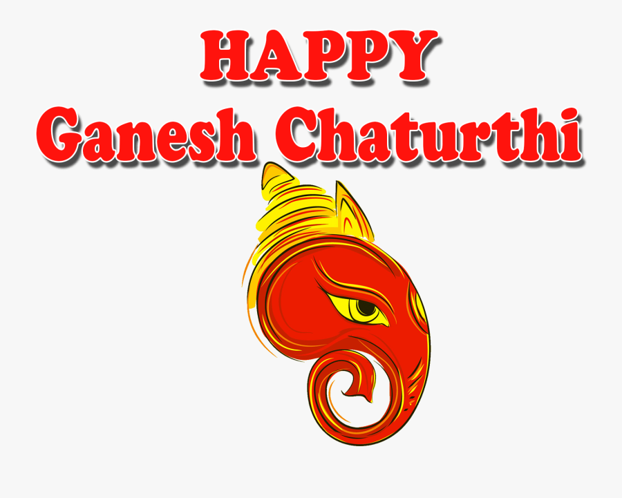 Happy Ganesh Chaturthi Png, Transparent Clipart