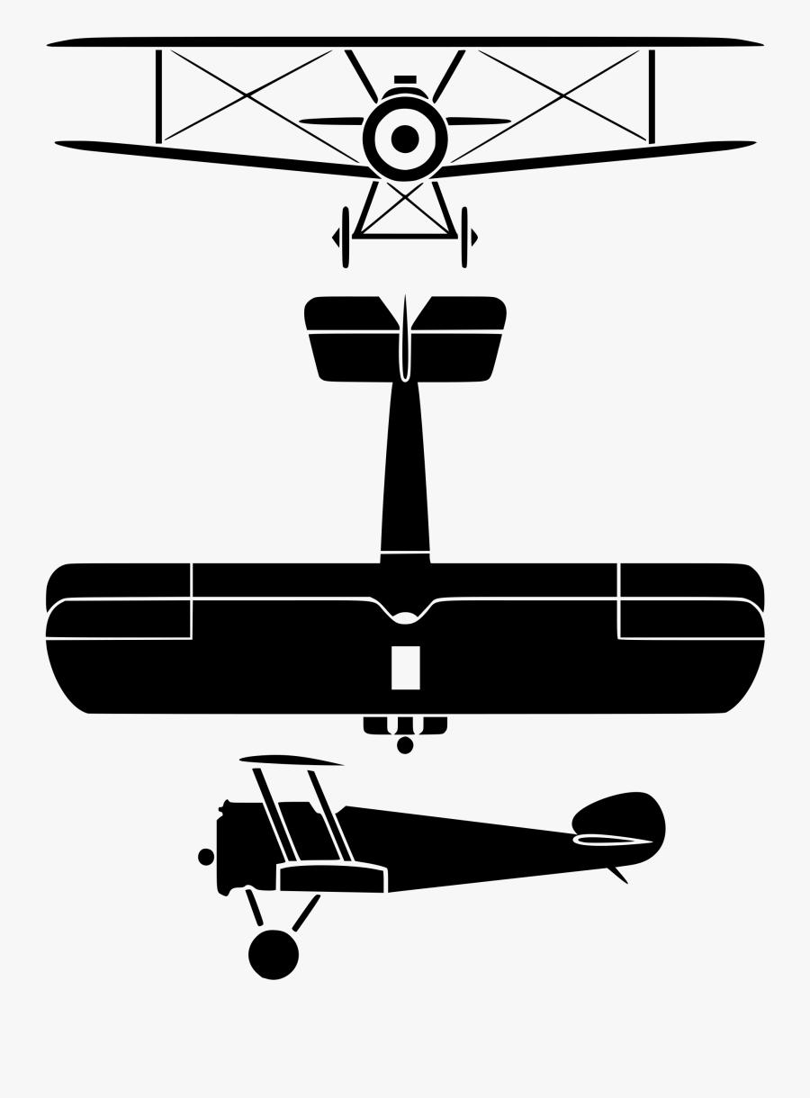 Plane Svg Vintage - Sopwith Camel Front View, Transparent Clipart