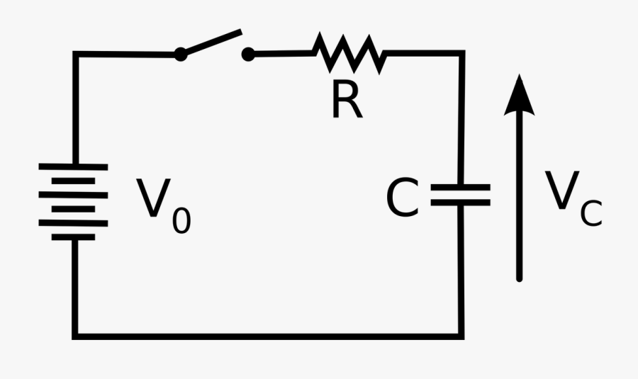 Electric Circuits Resistance Of Capacitors Physics - Electric Circuit With Capacitors, Transparent Clipart