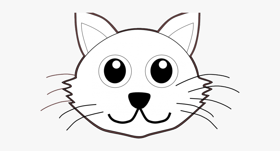 Kittens Clipart Face - Cat Face To Color, Transparent Clipart