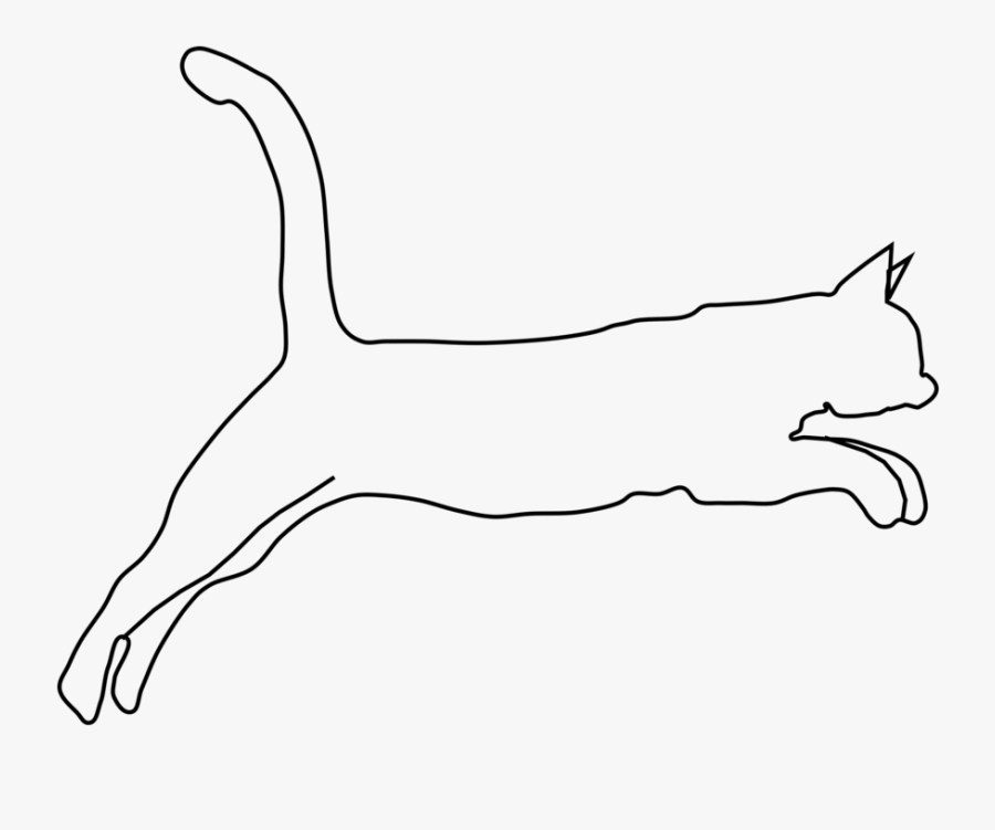 Transparent Tiger Silhouette Png - Cute Cats And Dogs Drawings Simpol, Transparent Clipart