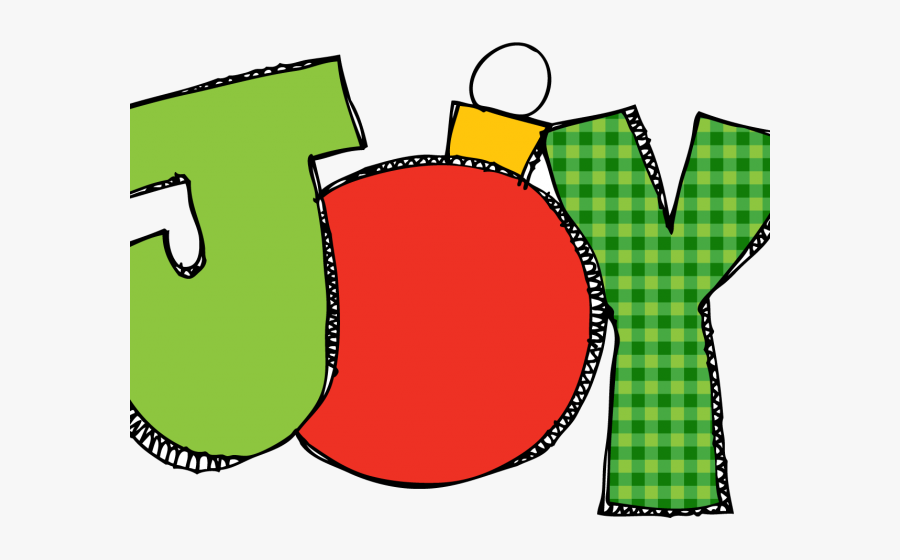 Christmas Card Clipart - Joy Christmas Clip Art, Transparent Clipart