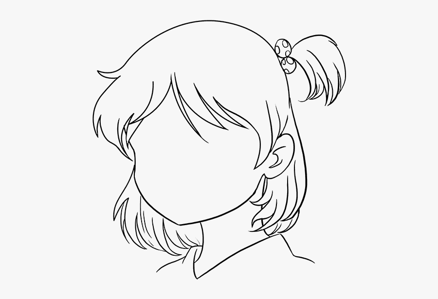 Anime Png Draw - Easy Drawing Cute Anime Girl, Transparent Clipart