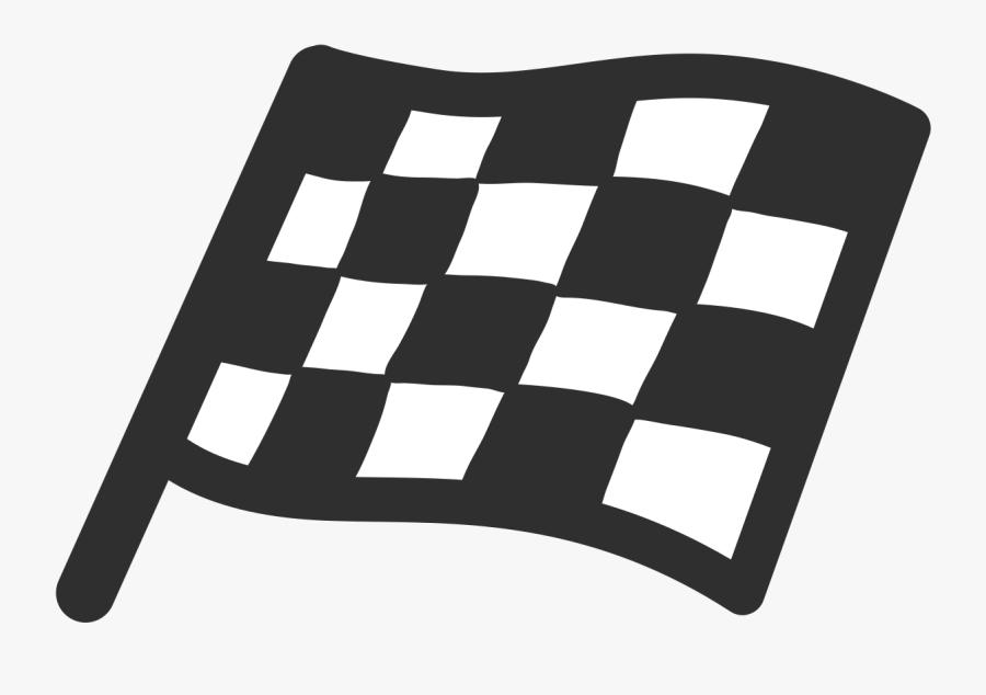 Iphone Checkered Flag Emoji, Transparent Clipart
