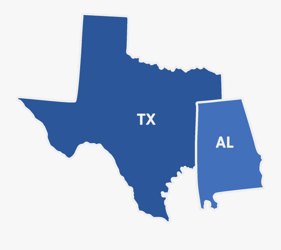 Denco Service Area - Black Map Of Texas, Transparent Clipart