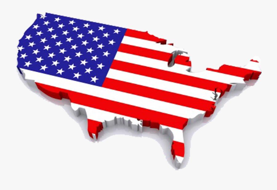 Transparent Usa Flag Map Png - Usa Flag Map Png, Transparent Clipart