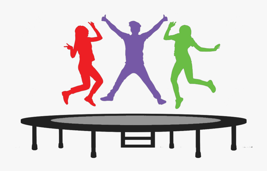 Trampoline - Jumping On Trampoline Png, Transparent Clipart