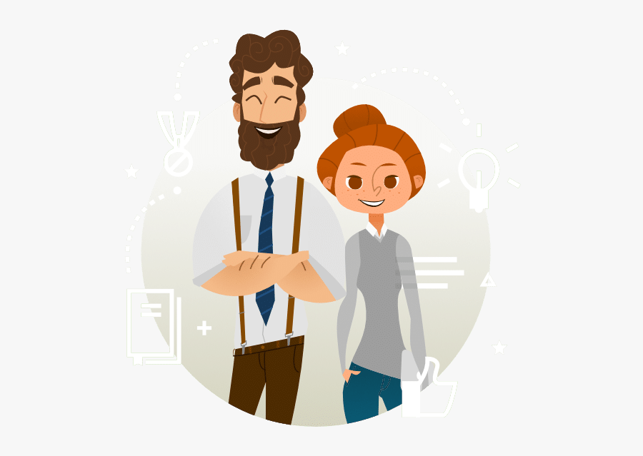 Partner Intro - Vector Business Characters, Transparent Clipart