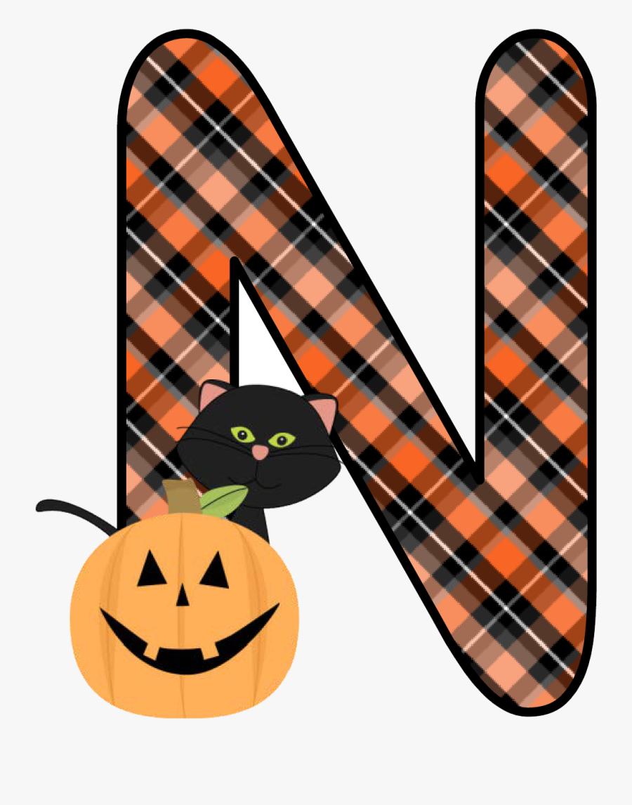 Transparent Halloween Kids Clipart - Free Printable Halloween Alphabet Letters, Transparent Clipart