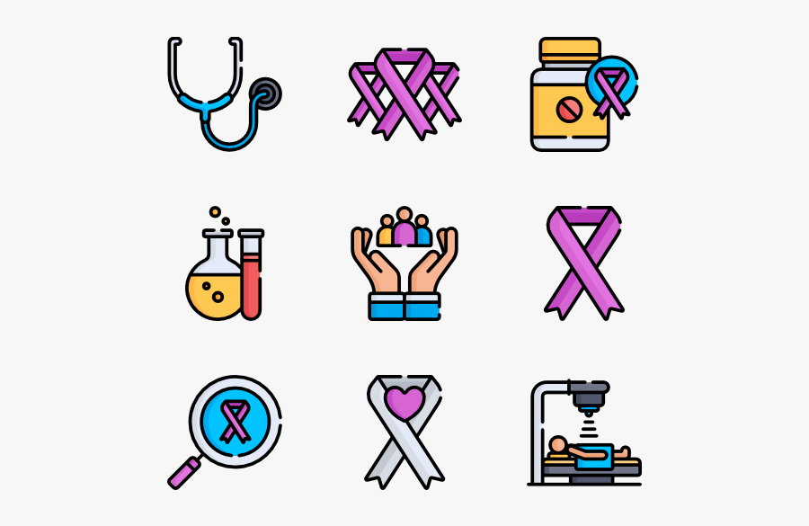 World Cancer Awareness Day - Icons Of New Orleans, Transparent Clipart